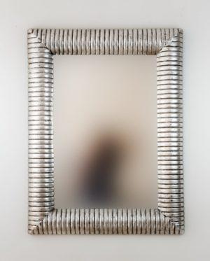 Espejo Bambu Espiral Plata (envejecida)