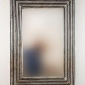 Espejo Garis Full Plata (envejecida) de 100cm. Madera artesana