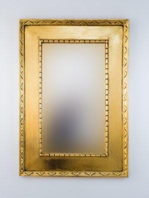 Espejo de pared decorativo Kuping Celeng Oro (envejecido) de 100cm.