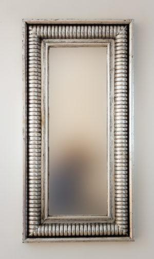 Espejo Bambu Aget Plata (envejecida)