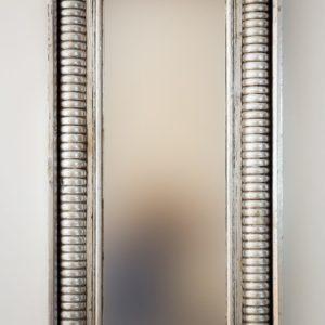 Espejo Bambu Aget Plata (envejecida) de 100cm. Madera artesana