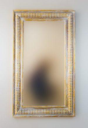 Espejo Bambu Aget Pan de oro