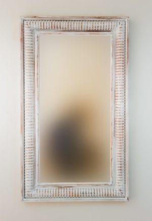Espejo Bambu Aget Blanco (envejecido)
