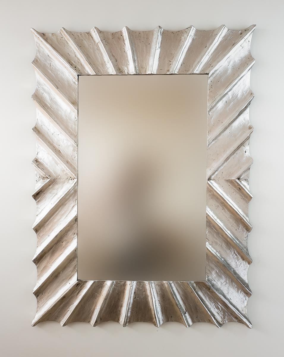 Espejo de pared en madera sol surya burik plata for Espejo madera envejecida