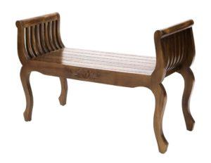 """Banco Kartini """"Flor"""" realizado en madera maciza de 100cm de ancho"""