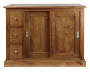Mueble rústico para baño Mawiya de 100x79cm