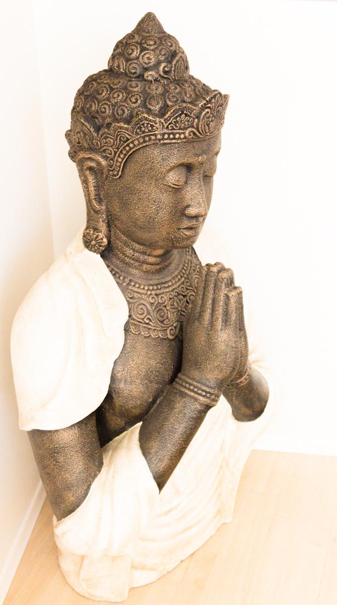 Buda Grande De 155cm En Fibrocemento Para Jardín O Interior Rococó