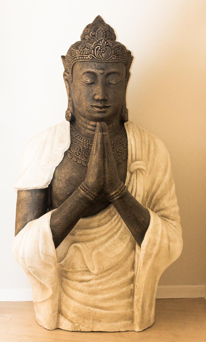 Buda grande de 155cm en fibrocemento para jard n o interior rococ - Buda jardin ...