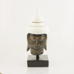 Figura Buda Head white blanco