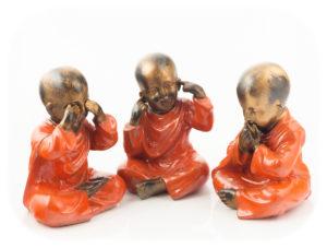 Figura Shaolin DBM rojo 23cm rojo