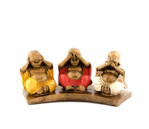 Figura Shaolin triple + base según imagen