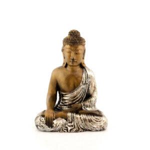 Figura Buda Sentado plata plata