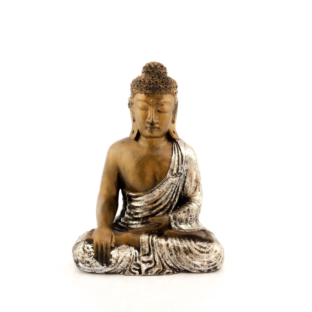 Figura buda sentado plata rococ - Figuras buda decoracion ...