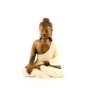 Figura Buda Sentado crema crema