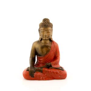 Figura Buda Sentado rojo rojo