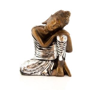 Figura Buda Relax plata 25cm plata