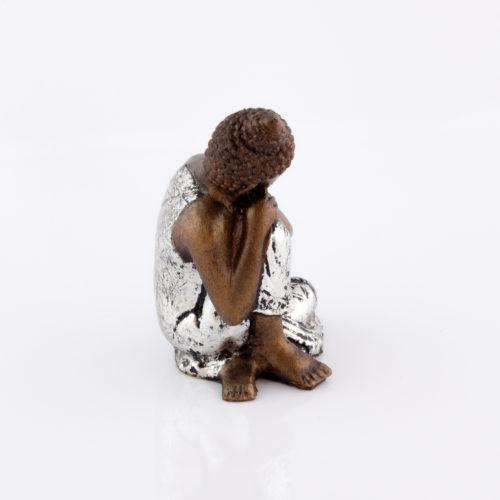 Figura Buda Relax plata 15cm plata
