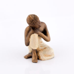 Figura Buda Relax crema 15cm crema