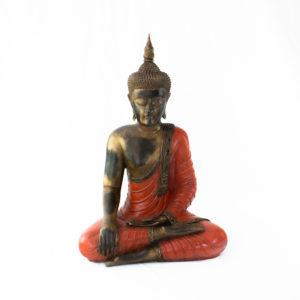 Figura Buda Thai rojo 65cm rojo