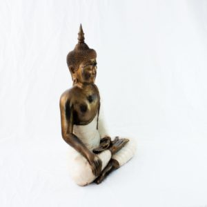 Figura Buda Thai crema 65cm blanco