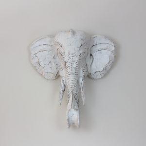 Figura Elephant Wall  blanco blanco