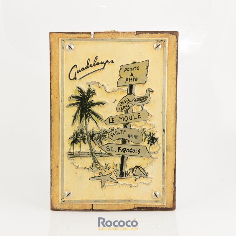 Cuadro decorativo vintage metal y madera 20x30 - Cuadros vintage madera ...
