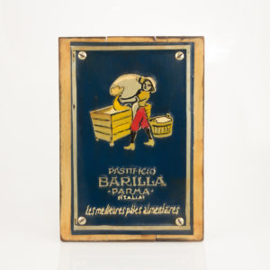 """Cuadro decorativo Vintage (metal y madera) 20X30 """"Barilla"""" según imagen"""