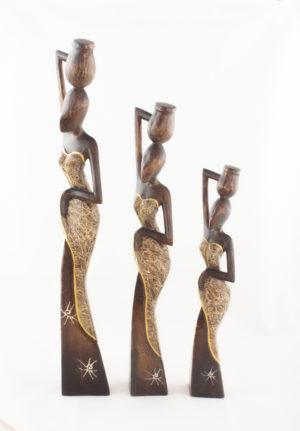 Figura decorativa Balinesa con vasija según imagen
