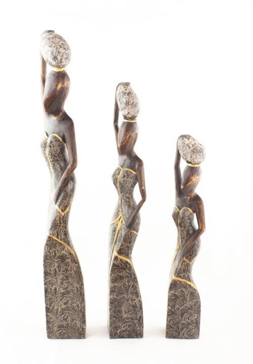 Figura decorativa Balinesa con piedra según imagen