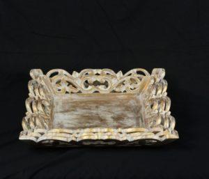 Bandeja nde madera Iskandar acabo pan de oro