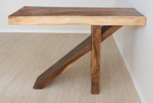 Barra de bar de madera maciza de Suar 150x50x110cm. Diferentes piezas disponibles.