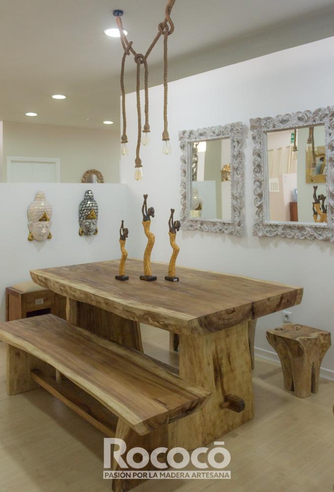 Mesas de Suar rústicas, interior o jardín en varias medidas. | Rococó