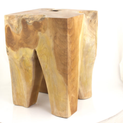 Taburete Stool Puff Teca natural