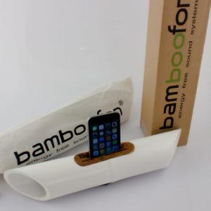 Soporte amplificador móvil Bamboofon White blanco