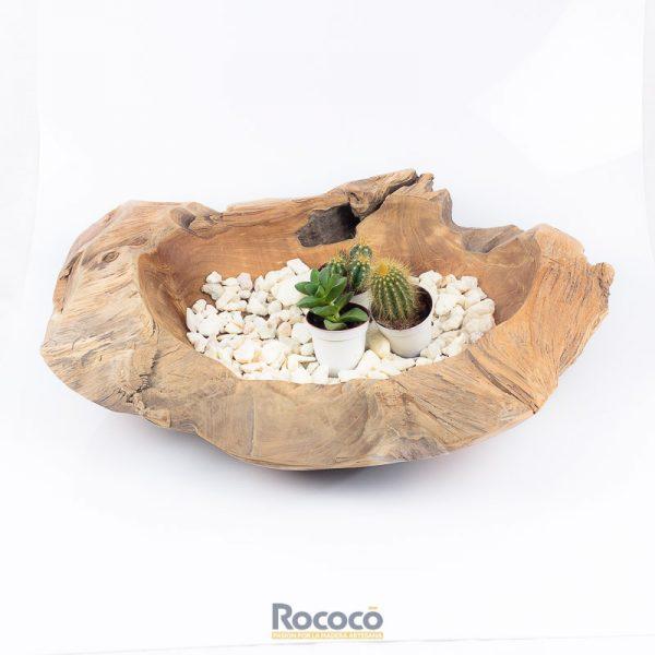 Bol decorativo madera de teca