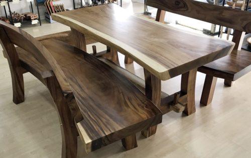 Mesa maciza de madera de Suar de 180cm