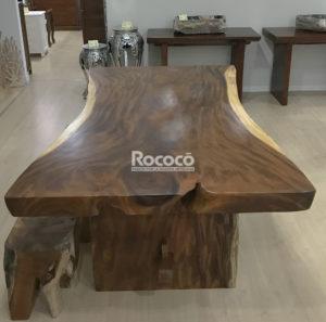 mesas de suar de madera maciza de una pieza