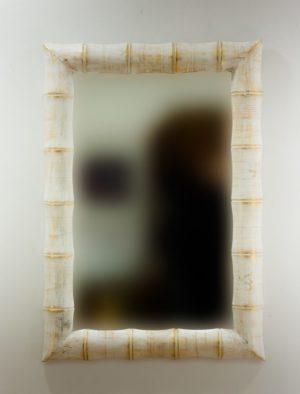 Espejo de pared decorativo Bamboo Pan de oro de 100cm.