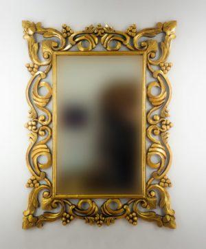 Espejo de pared decorativo Gada Warta Oro (envejecido) de 120cm.