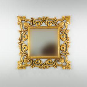 Espejo de pared decorativo Gada Warta Oro (envejecido) de 60cm.