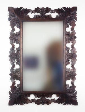 Espejo de pared decorativo Colonial Classic Brownie de 100cm.