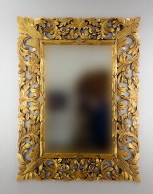 Espejo de pared decorativo Renaisance Oro (envejecido) de 120cm.