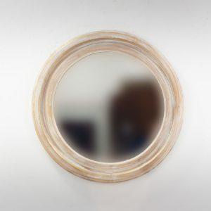 Espejo de pared decorativo Round Polos Pan de oro de 60cm.