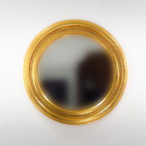Espejo de pared decorativo Round Polos Oro (envejecido) de 60cm.