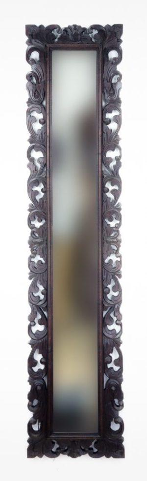 Espejo de pared decorativo Español Long Brownie de 180cm.