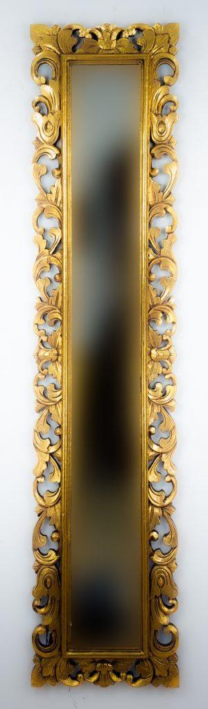 Espejo decorativo de madera Español Long de 180x40 en Oro (envejecido)