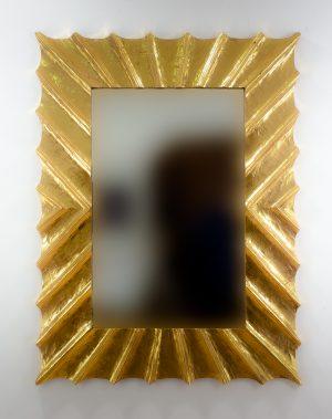 Espejo de pared decorativo Surya Burik Oro (envejecido) de 120cm.