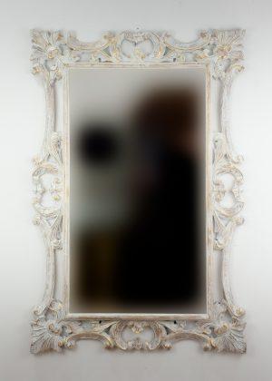 Espejo de pared decorativo Eiffell Pan de oro de 120cm.