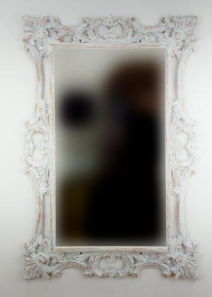 Espejo de pared decorativo Eiffell Blanco (envejecido) de 120cm.