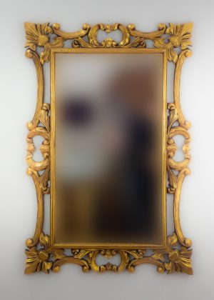 Espejo de pared decorativo Eiffell Oro (envejecido) de 120cm.